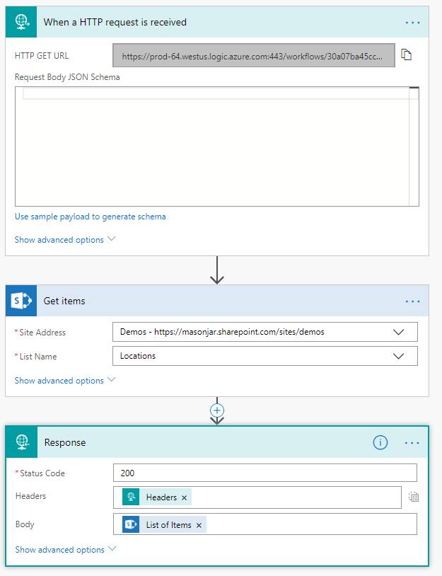Using Microsoft Flow to Create a Web Service – MarkRackley net